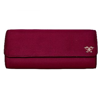 Tiska Maroon Color Pure Silk Ethnic Clutch