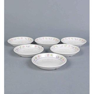 Machi Charm Melamine Dahi Bhalla Plate - Set of 6