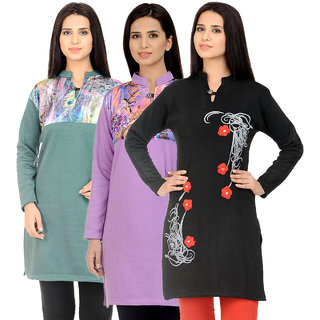 Christy Collection Winter Kurti Set of 3