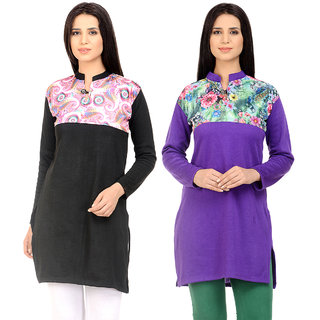 Rakshita Collection Winter Kurti Set of 2