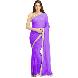 nikha fashion purpel georgette saree