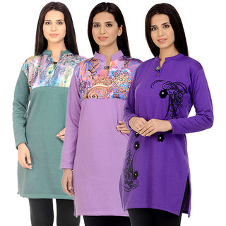 d5005fd60 Buy Rakshita Collection Winter Kurti Set of 3 Online   ₹849 from ...