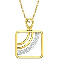 Jewel Hub SI-IJ Diamond Pendant for Men 0.13 ct / 2.00gm 18k Yellow Gold