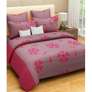 BeautifulRooms Floral Bedsheet in Cotton, Multicolor