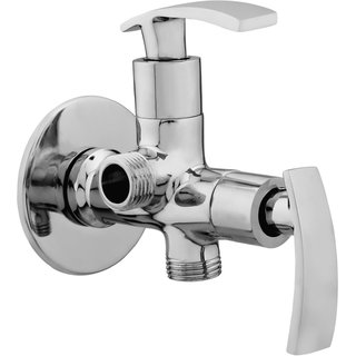 Snowbell Angle Cock 2 in 1 Soft Brass Chrome Plated