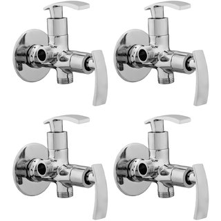 Snowbell Angle Cock 2 in 1 Soft Brass Chrome Plated - Set Of 4