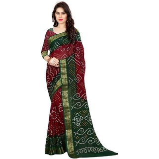 SVB Bandhani Cotton Silk Saree