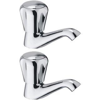 Snowbell Pillar Cock Continental Brass Chrome Plated - Buy 1Get 1