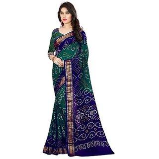 svb sarees Bandhani cotton silk saree