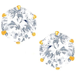 Aditri Cz American Diamond Round Studs-STR01