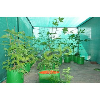 HDPE Grow bag 5 nos Size 15 x 15 Inch ( 1.25 x 1.25 feet) Terrace/Kitchen Garden