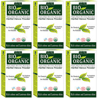 Indus Valley Bio Organic Herbal Henna Powder- Pack Of 6 - Combo Set