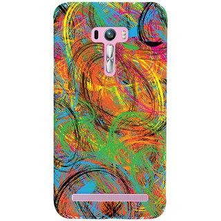Oyehoye Asus Zenfone Selfie ZD551KL Mobile Phone Back Cover With Colourful Pattern Style - Durable Matte Finish Hard Plastic Slim Case