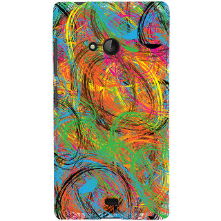 Oyehoye Microsoft Lumia 540 Mobile Phone Back Cover With Colourful Pattern Style - Durable Matte Finish Hard Plastic Slim Case