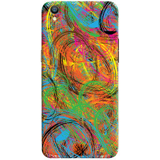 Oyehoye Oppo F1 Plus Mobile Phone Back Cover With Colourful Pattern Style - Durable Matte Finish Hard Plastic Slim Case