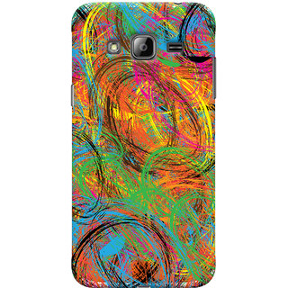 Oyehoye Samsung Galaxy J3 (2016) Mobile Phone Back Cover With Colourful Pattern Style - Durable Matte Finish Hard Plastic Slim Case