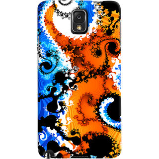 Oyehoye Samsung Galaxy Note 3 Mobile Phone Back Cover With Colourful Art Pattern Style - Durable Matte Finish Hard Plastic Slim Case