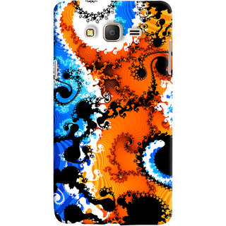 Oyehoye Samsung Galaxy ON7 Mobile Phone Back Cover With Colourful Art Pattern Style - Durable Matte Finish Hard Plastic Slim Case