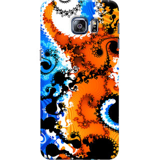 Oyehoye Samsung Galaxy S6 Edge Mobile Phone Back Cover With Colourful Art Pattern Style - Durable Matte Finish Hard Plastic Slim Case