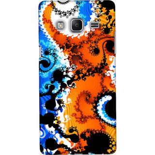 Oyehoye Samsung Galaxy Z3 Mobile Phone Back Cover With Colourful Art Pattern Style - Durable Matte Finish Hard Plastic Slim Case