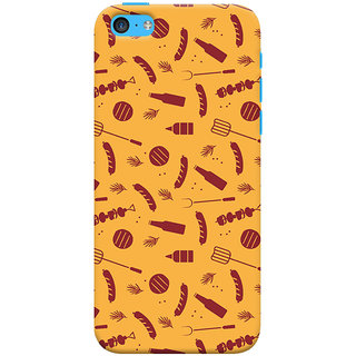Oyehoye   5S Mobile Phone Back Cover With Party Time Pattern Style - Durable Matte Finish Hard Plastic Slim Case