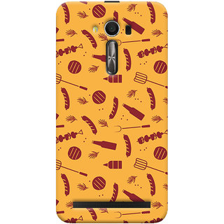 Oyehoye Asus Zenfone 2 Laser ZE550KL / Zenfone 5.5 Mobile Phone Back Cover With Party Time Pattern Style - Durable Matte Finish Hard Plastic Slim Case