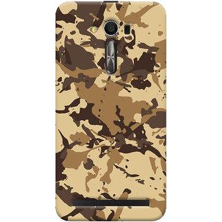 Oyehoye Asus Zenfone 2 Laser ZE550KL / Zenfone 5.5 Mobile Phone Back Cover With Millitary Pattern Style - Durable Matte Finish Hard Plastic Slim Case