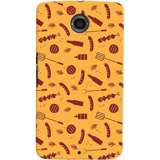 Oyehoye Motorola Google Nexus 6 Mobile Phone Back Cover With Party Time Pattern Style - Durable Matte Finish Hard Plastic Slim Case