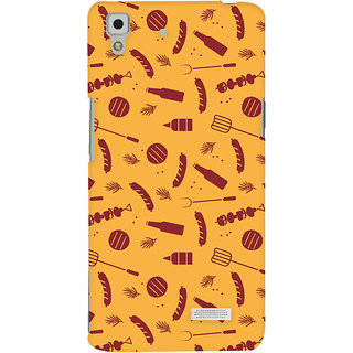 Oyehoye Oppo R7 Mobile Phone Back Cover With Party Time Pattern Style - Durable Matte Finish Hard Plastic Slim Case