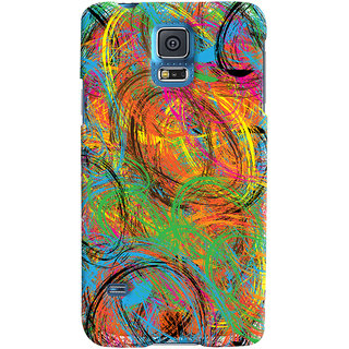 Oyehoye Samsung Galaxy S5 Mobile Phone Back Cover With Colourful Pattern Style - Durable Matte Finish Hard Plastic Slim Case