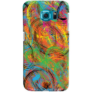 Oyehoye Samsung Galaxy S6 Mobile Phone Back Cover With Colourful Pattern Style - Durable Matte Finish Hard Plastic Slim Case