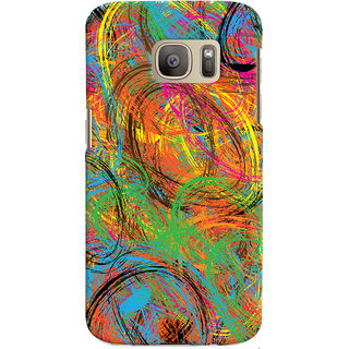 Oyehoye Samsung Galaxy S7 Mobile Phone Back Cover With Colourful Pattern Style - Durable Matte Finish Hard Plastic Slim Case