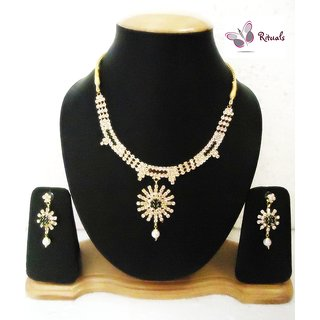 Rituals Cz Diamond Necklace Set