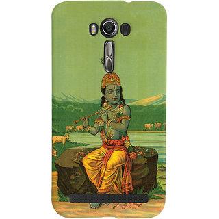 Oyehoye Asus Zenfone 2 Laser ZE601KL Mobile Phone Back Cover With Vintage Krishna Poster - Durable Matte Finish Hard Plastic Slim Case
