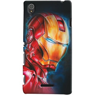 Oyehoye Sony Xperia T3 Mobile Phone Back Cover With Iron Man - Durable Matte Finish Hard Plastic Slim Case