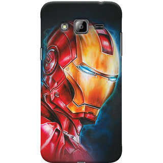Oyehoye Samsung Galaxy J3 Mobile Phone Back Cover With Iron Man - Durable Matte Finish Hard Plastic Slim Case