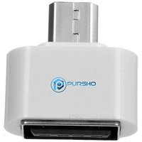 OTG Adapter Micro USB OTG to USB 2.0 Adapter for Smartphones  Tablets - White