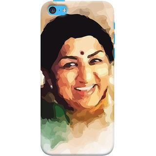 Oyehoye   5C Mobile Phone Back Cover With Lata Mangeshkar - Durable Matte Finish Hard Plastic Slim Case