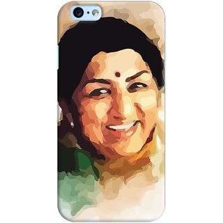 Oyehoye Apple iPhone 6S Mobile Phone Back Cover With Lata Mangeshkar - Durable Matte Finish Hard Plastic Slim Case