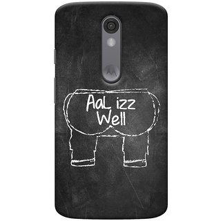 Oyehoye Motorola Moto X Force Mobile Phone Back Cover With Aal Izz Well Quirky - Durable Matte Finish Hard Plastic Slim Case
