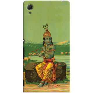 Oyehoye Sony Xperia Z4 Mobile Phone Back Cover With Vintage Krishna Poster - Durable Matte Finish Hard Plastic Slim Case
