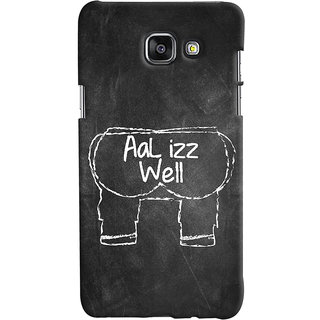 Oyehoye Samsung Galaxy A5 A510 (2016 Edition) Mobile Phone Back Cover With Aal Izz Well Quirky - Durable Matte Finish Hard Plastic Slim Case