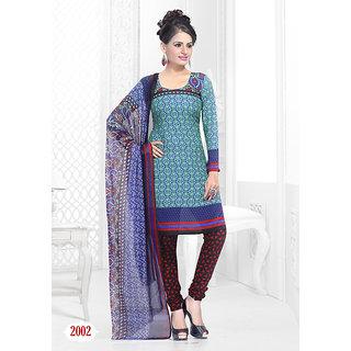 Trendz Apparels Green American Crepe Straight Fit Salwar Suit