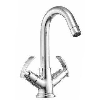 Snowbell Basin Mixer Soft Brass Chrome Plated