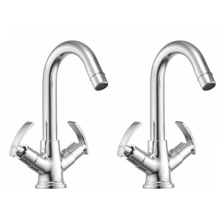 Snowbell Basin Mixer Soft Brass Chrome Plated - Buy 1Get 1