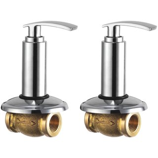 Snowbell Concealed Stop Cock Soft 15 mm. Brass Chrome Plated - Buy 1Get 1