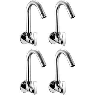 Snowbell Sink Cock Soft Brass Chrome Plated - Set of 4
