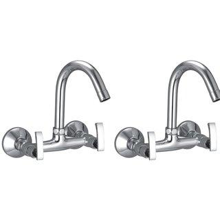 Snowbell Sink Mixer Soft Brass Chrome Plated - Buy 1Get 1