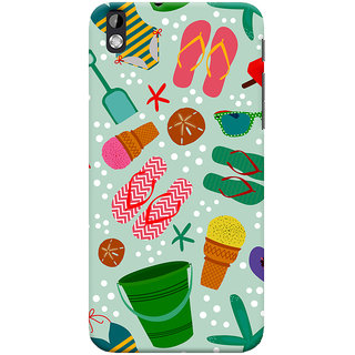 Oyehoye HTC Desire 816 / 816G Dual Sim Mobile Phone Back Cover With Beach Time Pattern - Durable Matte Finish Hard Plastic Slim Case