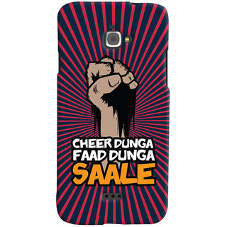 Oyehoye Infocus M350 Mobile Phone Back Cover With Cheer Dunga Faad Dunga Quirky - Durable Matte Finish Hard Plastic Slim Case